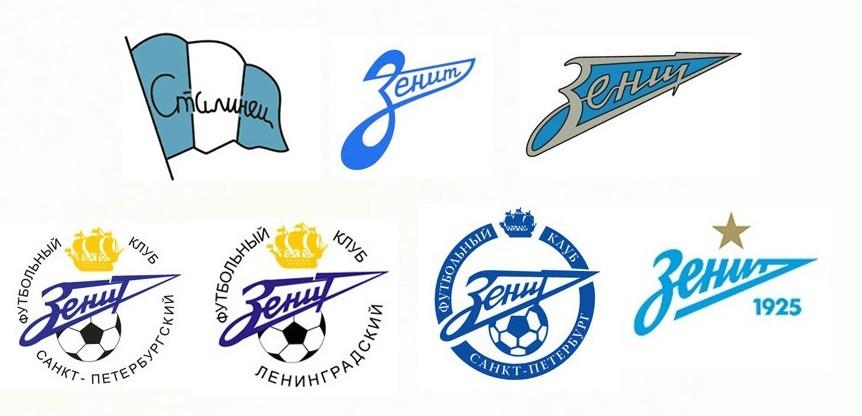 Логотипы Зенита за всю историю